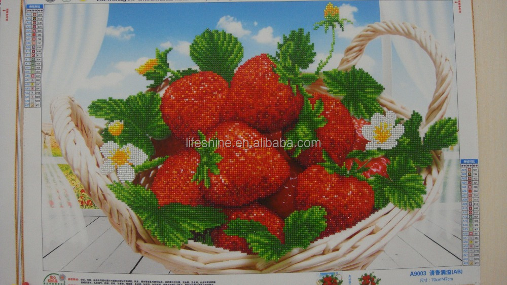 New cloth Strawberry fresh fruit 5d diamond painting home decoration embroidery handicraft modern art