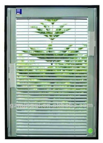 Simple style champagne, silver white powder coated aluminium shutter window