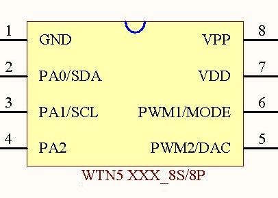 WTN5 последовательный контроль связи дверной Звонок голос микросхема