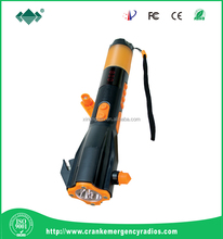 Wind Up 3 LED Flashlights Torch Dynamo Hand Crank Power, Alarm Flashing Light and Emergency Hand Cranked Mobile Charger