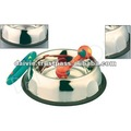 Antiskid belly shape dog bowl with wall design