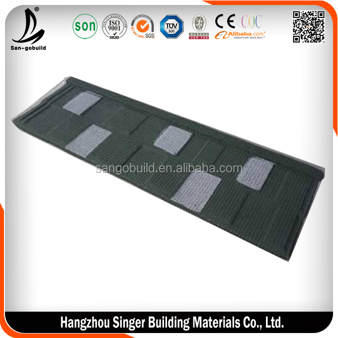 2pieces roof tile cover 1square meter roof,cheaper stone ocated roof tile price philippines