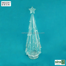 2015 Fashion Acrylic Christmas Tree, led lighted christmas tree decoration