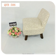 506-1 QVB JIANDE TONGDA Japanese style modern low chair / soft wood footstool with low back living room chair