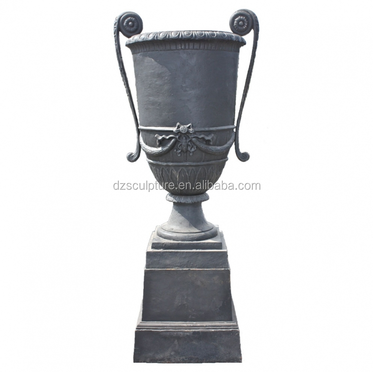 New bulk iron trophy shape flower pots wholesale