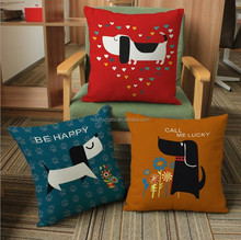 Wholesale printed linen pillow case covers unique throw pillow cases for car sofa