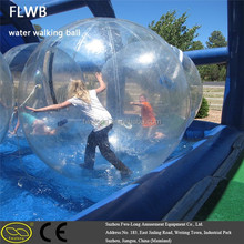 new design TPU crystal water walking ball human hamster ball Inflatable Water Sphere for sale