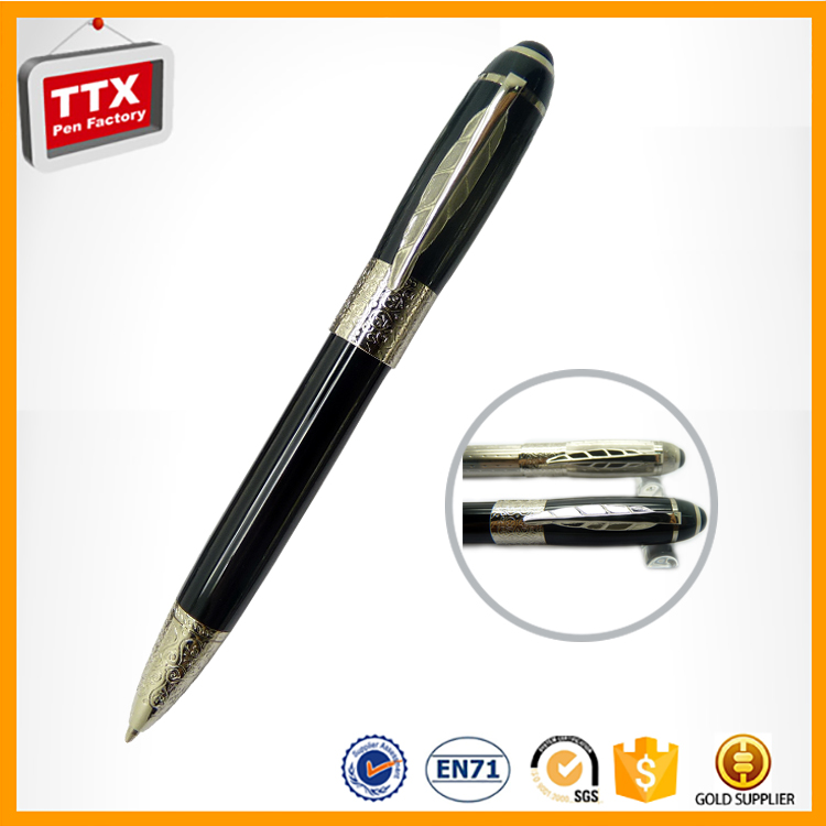 Top quality metal pen with kit wooden pen cases