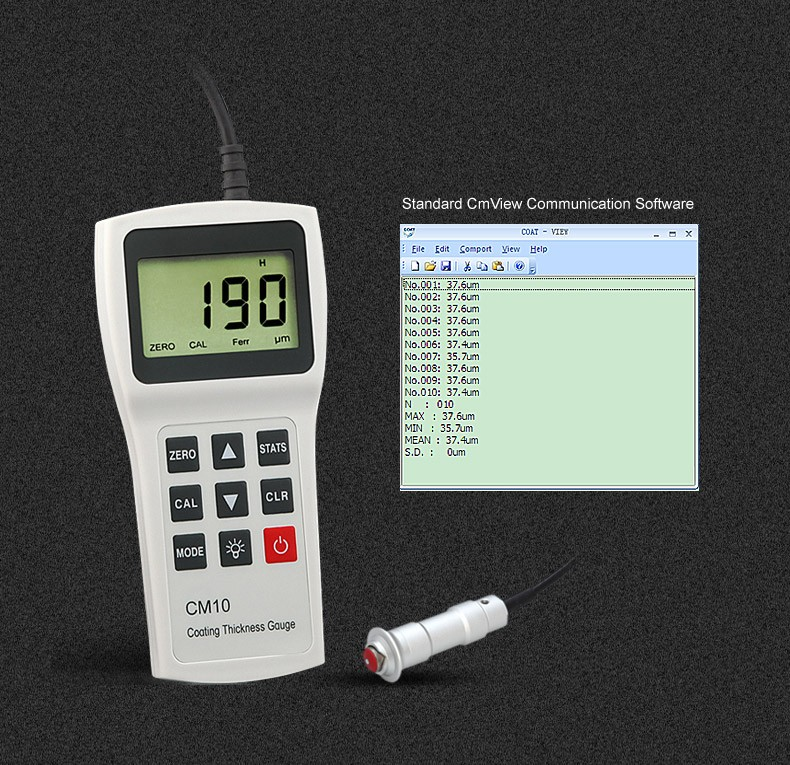 Separated Elcometer Paint Coating Thickness Gauge Meter with Software