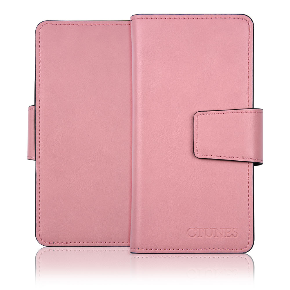 C&T Dual-section 3 Card Slots PU Leather Wallet Case and Money Pocket Wallet Flip Case for Apple iPhone 6 4.7""