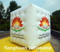 inflatable floatinig cube balloon/ inflatable square balloon for advertising