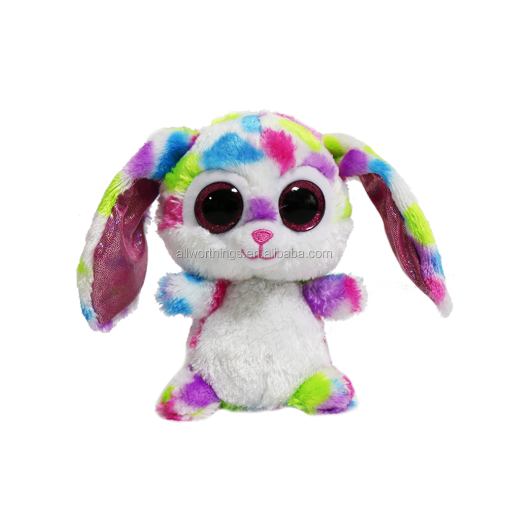 New cute wholesale big eyes stuffed rabbit bear plush animal toys plush rabbit toys