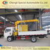 4*2 Truck mounted crane, hydraulic manual crane, small knuckle boom crane