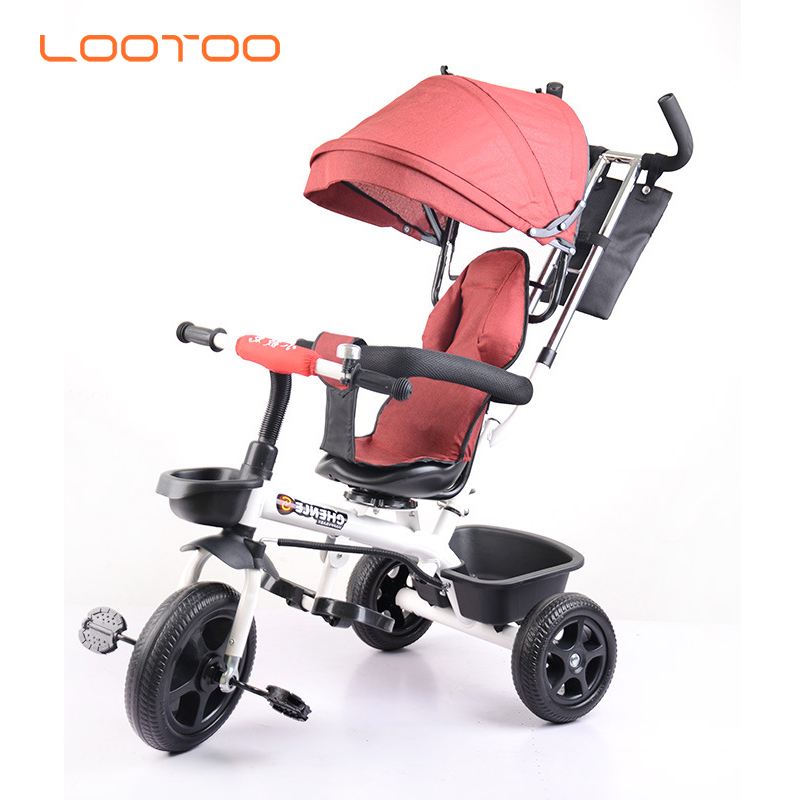 China manufacture good price steel frame big 3 wheeler children tricycle pedal bicycle kids bike 3 wheels for 2 years boy