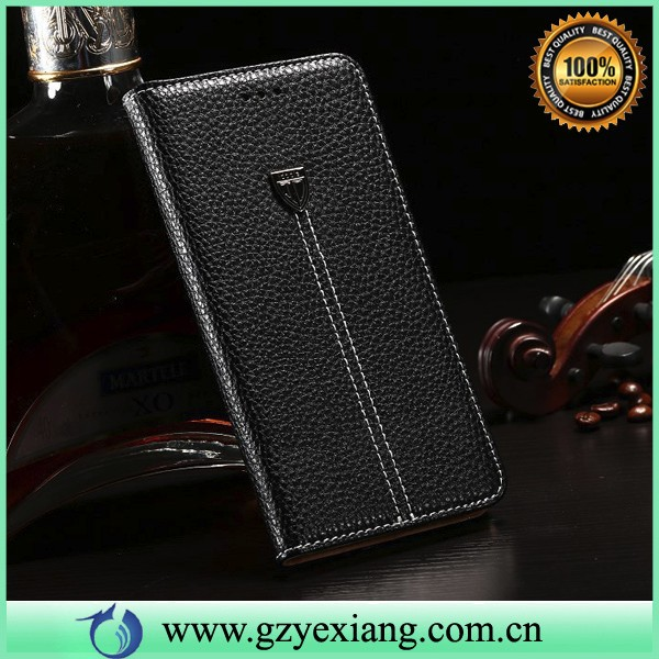 high quality leather flip case for lg optimus g pro e988 back cover with card slot