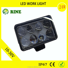 Hot sell high quality 24W suv LED WORK LIGHT for all boat,auto parts,offroad,truck