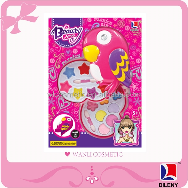 Beautiful Girl Cosmetic Kids Makeup Bird Toy Play Set