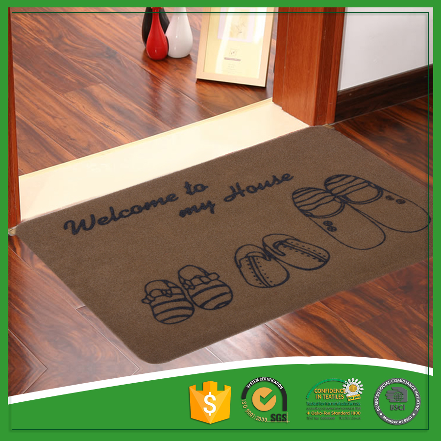 Welcome Carpet Washable Entrance Rugs with Rubber Back