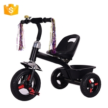High density children ride on baby plastic toy pedal car big kids pedal folding tricycle price