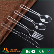 Transparent plastic forks knives and spoons cutlery flatware set