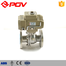 low price stainless steel flange connection electric ball valve