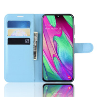 Lichee Pu Leather Wallet Stand Flip Book Case For Samsung Galaxy A40 Cover