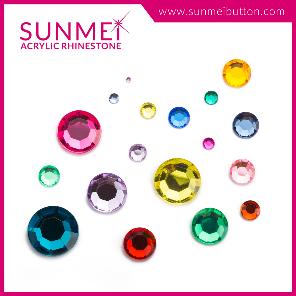 Brand new ruby hair accessories flatback cabochon acrylic 20mm rhinestone nail with high quality