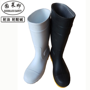 Green PVC Wellies Boots Rain Boots with Steel Toe