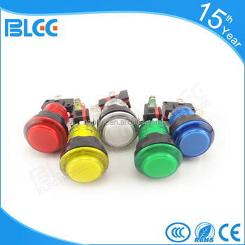 32mm Arcade game machine transparent Small round led push button