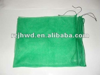 date PE Mesh plastic knitted Bag with drawstring