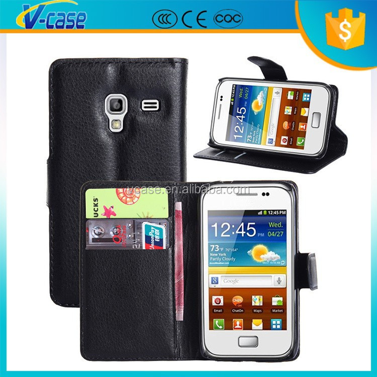 VCASE hot selling cover for samsung galaxy, flip cover for samsung galaxy ace plus s7500