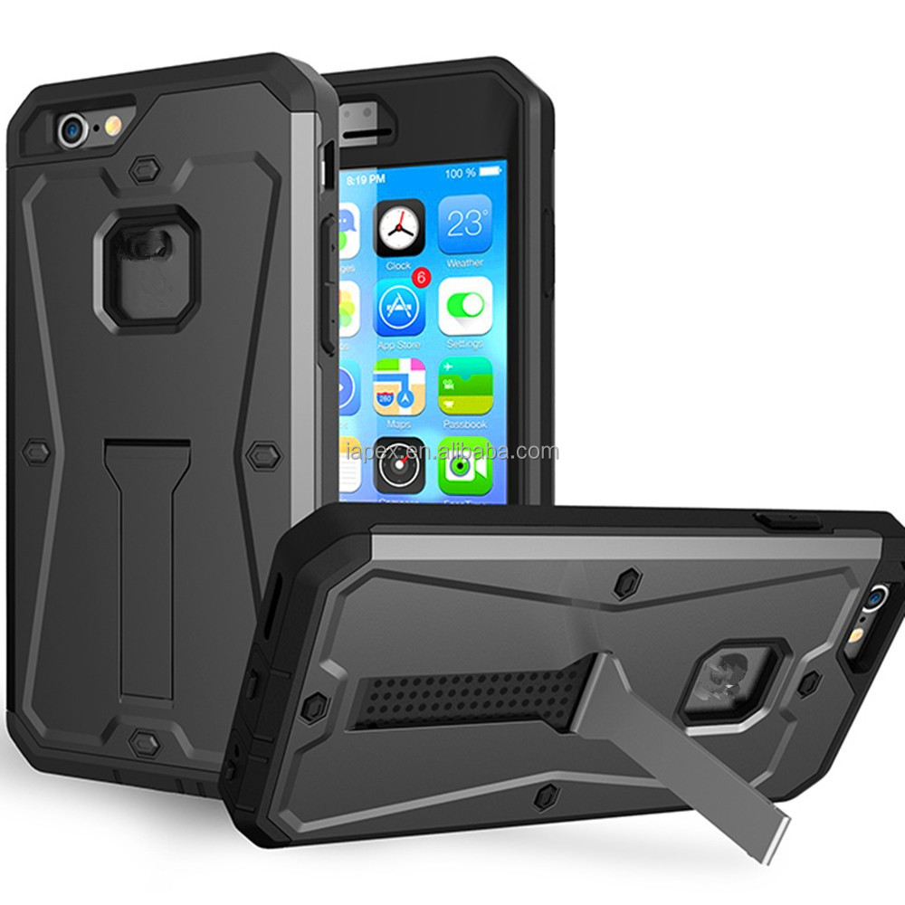 3 in 1 Waterproof Hybrid Rugged Armor Military Tank Kickstand Hard Case for iphone 6 6S