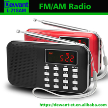 Factory selling L-218AM usb radio am fm portable