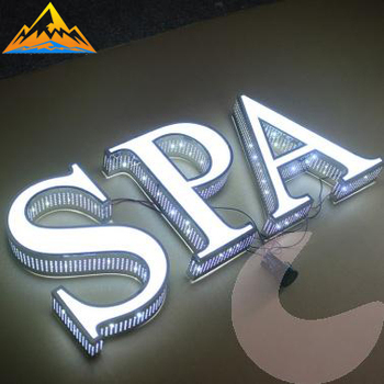 High grade stainless steel vintage punching led bulb letter outdoor sign letters stainless steel 3D letter