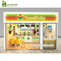 Retail salad shop furniture , salad shop interior design and shopping mall food kiosk design for sale