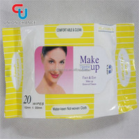20pcs Makeup Wipes Disposable Eyes and Face Wet Tissue