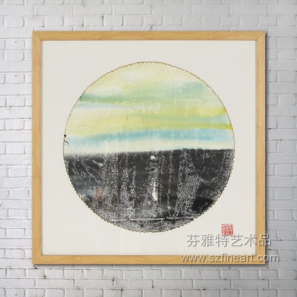 Framed artwork handmade painting for bedroom wall decor