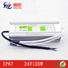 High quality waterproof IP67 24vdc led drivers 30w 45w 60w 80w 100w 120w power supply
