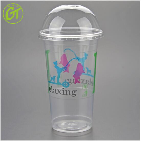 2017 Food Grade Beverage use PP PET Disposable Plastic Cup with Lid
