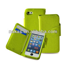 Wallet style PU leather handphone case for Iphone 5/5S
