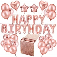 Happy Birthday Foil Banner Balloons Decorations Set Balloons