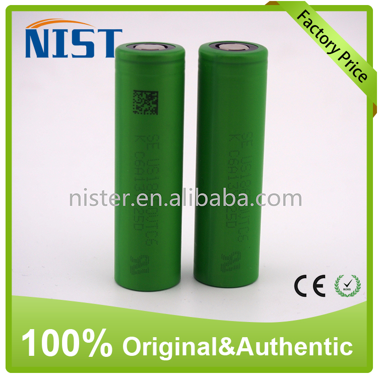 electronic cigarette factory original 18650 battery vtc6 3000mah 3.7v high drain li ion battery cells