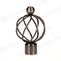 Curtain robs good quality aluminum alloy curtain pole with golden metal finials
