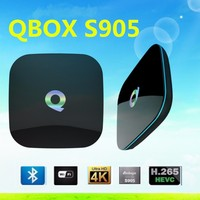 2016 hot selling Qbox S905 2Gb full hd TV android Box With Dual-Band 2.4G/5G Wifi H265 smart Set Top Box