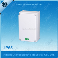 IP65 plastic enclosure, wall mounted outdoor and waterproof electrical box 340x220x150