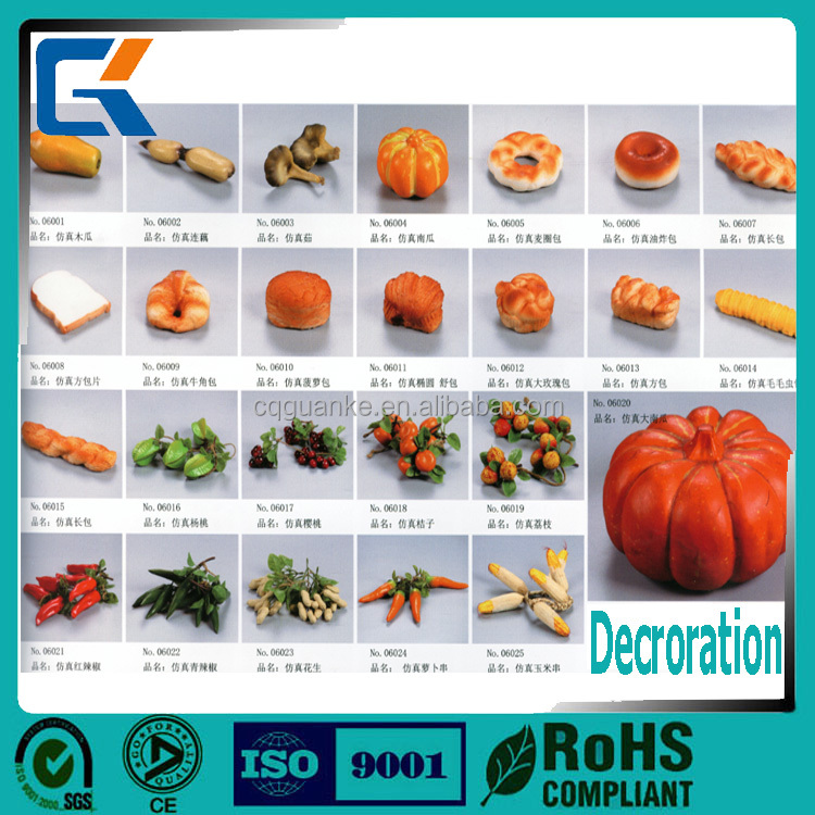 Wholesale decoration items artificial fruit and food bread for decoration in christmas