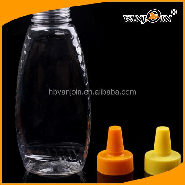 BPA Free Empty Clear Bottle Bulk Sale 500g Honey Packing Empty Bottles Silicone Cap