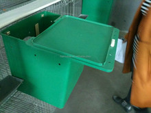 Lower price rabbit cage breeding plastic tray for rabbit hutch rasing equipment