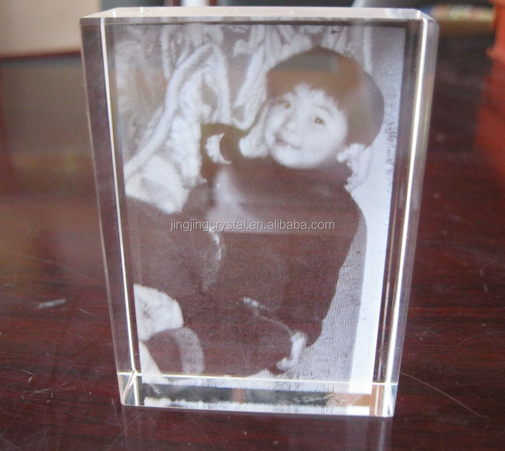 crystal blank crystal cube for photo frame