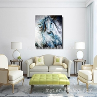 Abstract animal beautiful running impressionist horse painting hand made oil painting